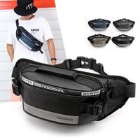 Уличная поясная сумка Антивор для мужчин, модная Светоотражающая Сумка для бега, забавная водонепроницаемая сумка для сотового телефона, д...