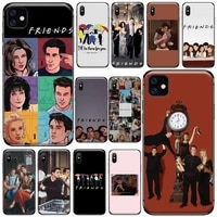 american tv show friends phone cases for iphone 11 12 pro xs max 8 7 6 6s plus x 5s se 2020 xr soft silicone shell cover funda