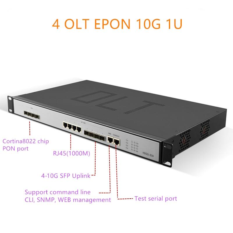 EPON OLT E04 1U EPON OLT 4 Puerto Triple-Play 1,25G/10G uplink 10G olt epon 4 pon 1,25G SFP Port PX20 + PX20 PX20 + + +