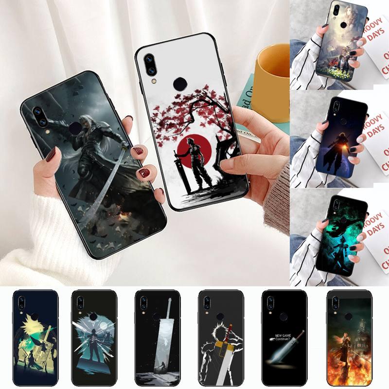 Final Fantasy VII Bling lindo funda de teléfono para Xiaomi Redmi note 4 4X T 8 9 10 K20 K30 cc9 9t pro lite.