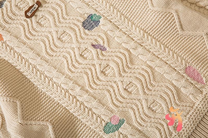 Ader Error Sweater Men Women Twist Embroidery Round Neck Loose Sweater Adererror Fashion Wool Pullover enlarge