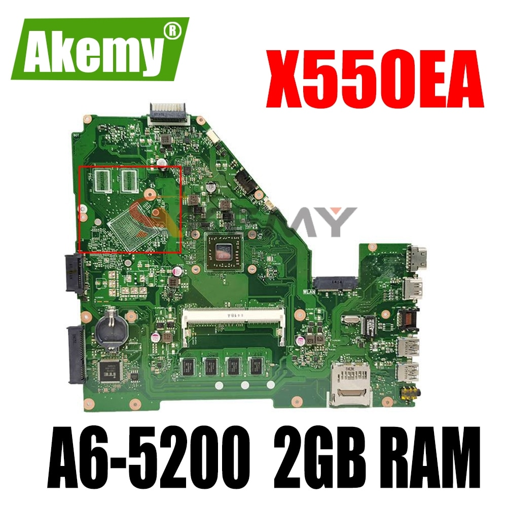 ل ASUS X550EA X550EP X550WA X550WE X552E X552W كمبيوتر محمول اللوحة اللوحة W/ A6-5200 2GB RAM