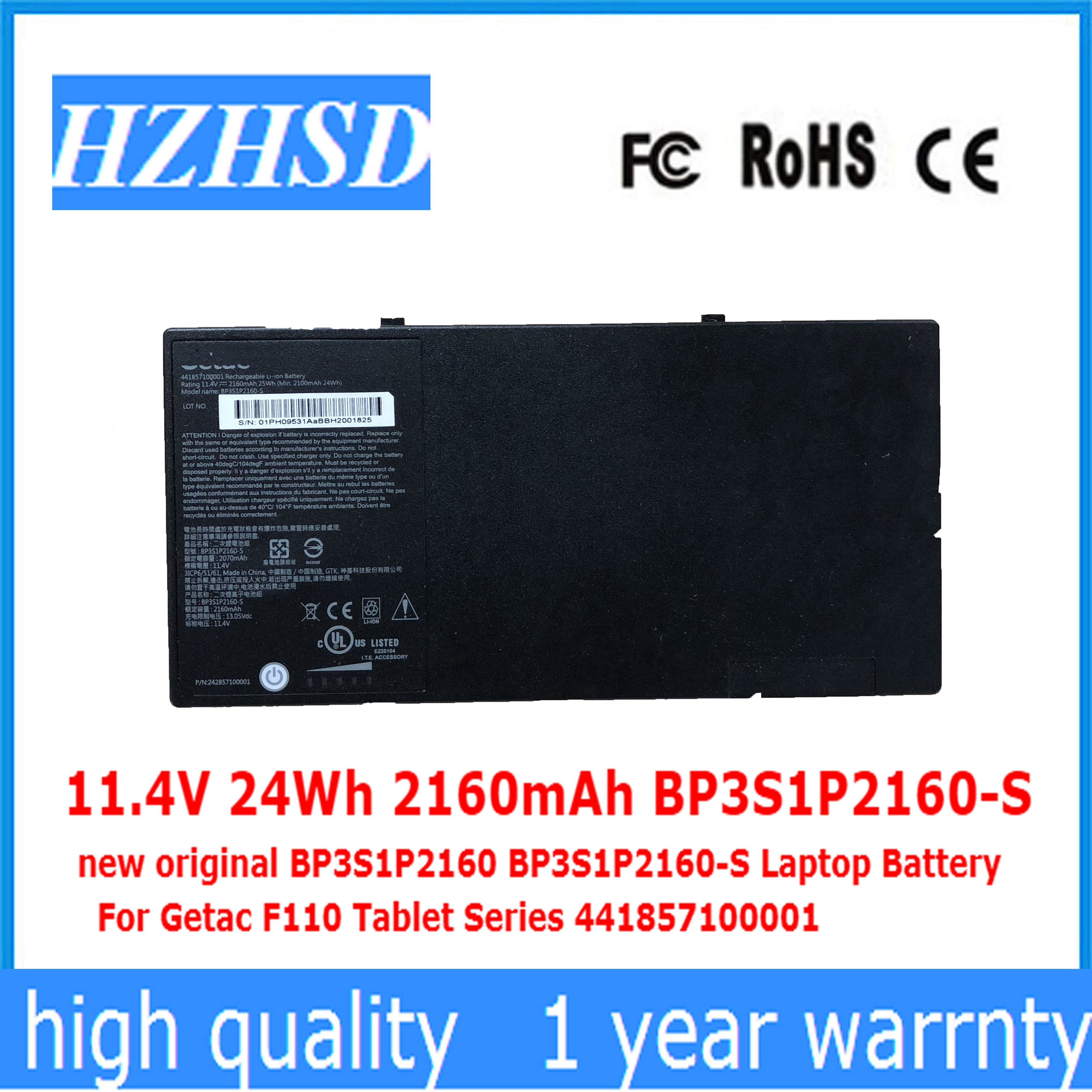 11.4V 24Wh 2160mAh BP3S1P2160-S جديد الأصلي BP3S1P2160 BP3S1P2160-S بطارية كمبيوتر محمول ل Getac F110 اللوحي سلسلة 441857100001