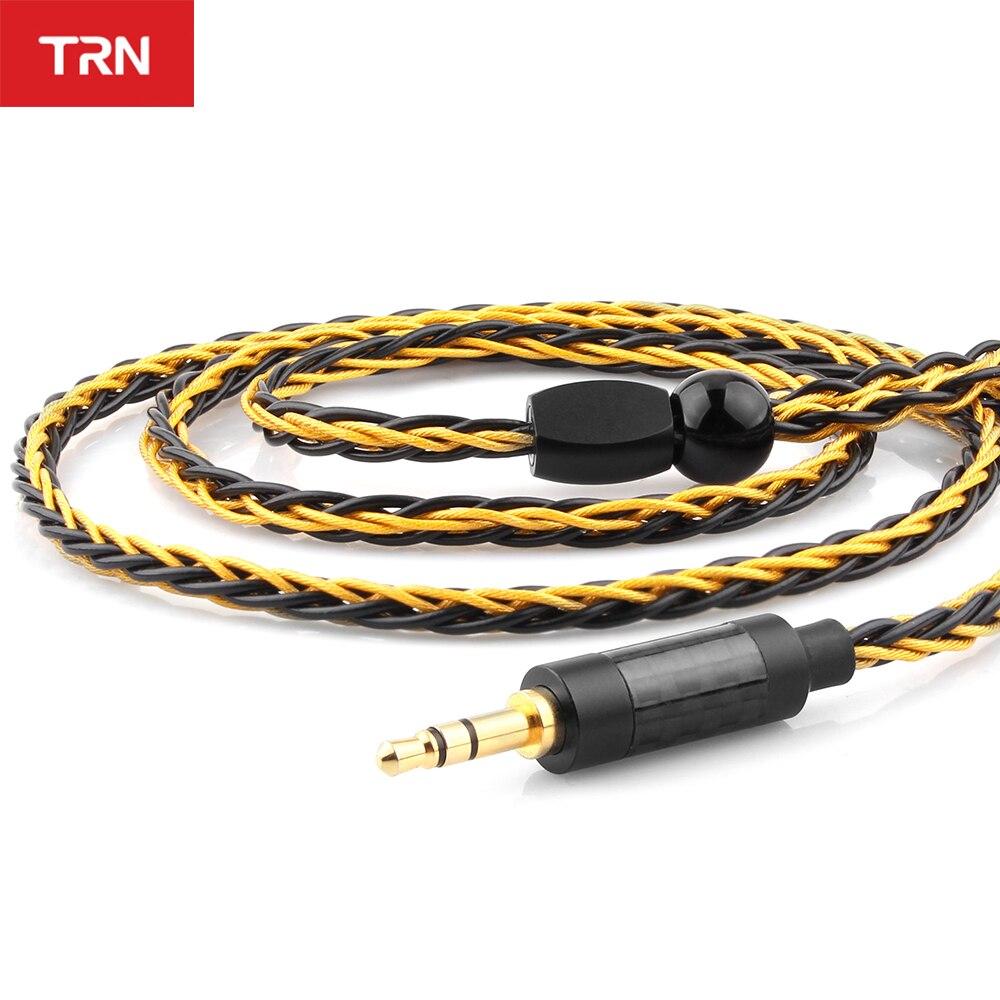 Trn T1 イヤホン金銀混合メッキアップグレードケーブル 8 コアヘッドフォンワイヤーためV90 V80 V60 V30 V20 V10