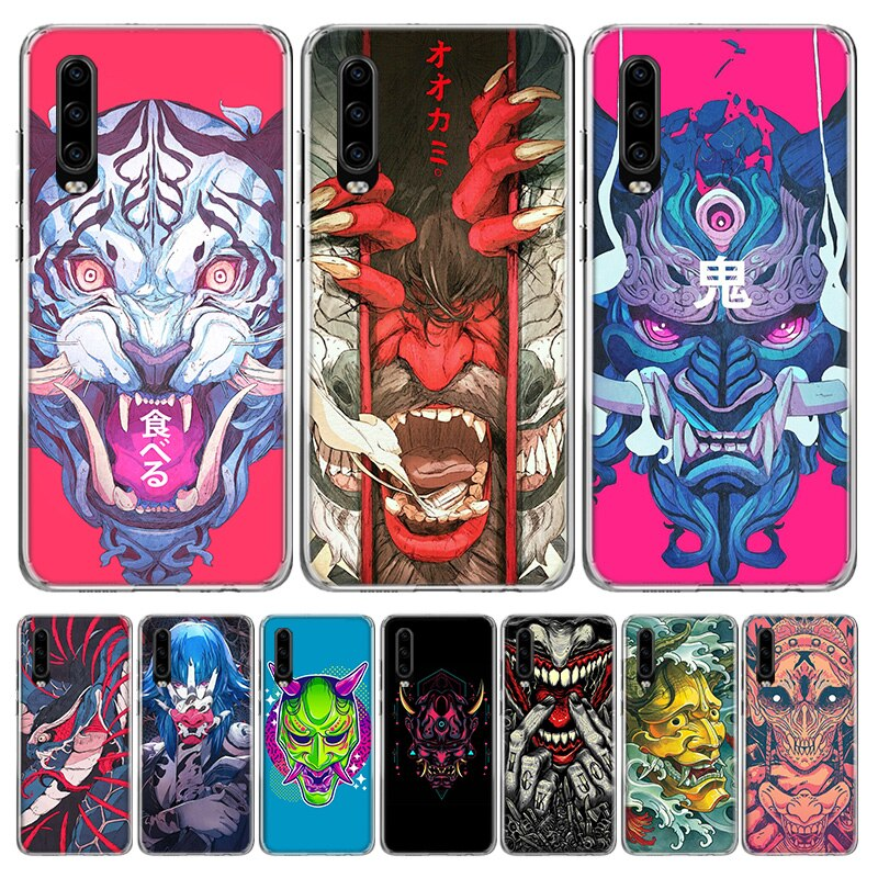 Oni máscara arte colorido funda del teléfono para Huawei P40 P30 P20 10 Mate 10 20 30 Lite Plus Pro P Smart Z + 2019 Popular Coque cubierta