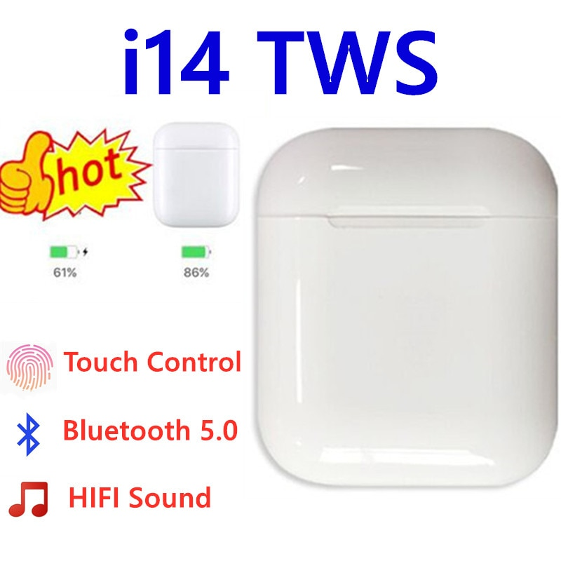 i14 TWS Original I 14 Tws True Wireless Headphone Earphone 1:1 Ear Buds Bluetooth Headset Airpots for Iphone 11 Samsung Honor
