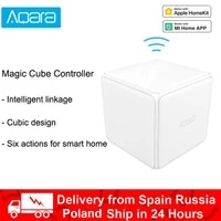 Xiaomi Aqara     controleur Cube magique  Version ZigBee controlee par Six Actions  appareil pour maison intelligente  fonctionne avec mi Home App