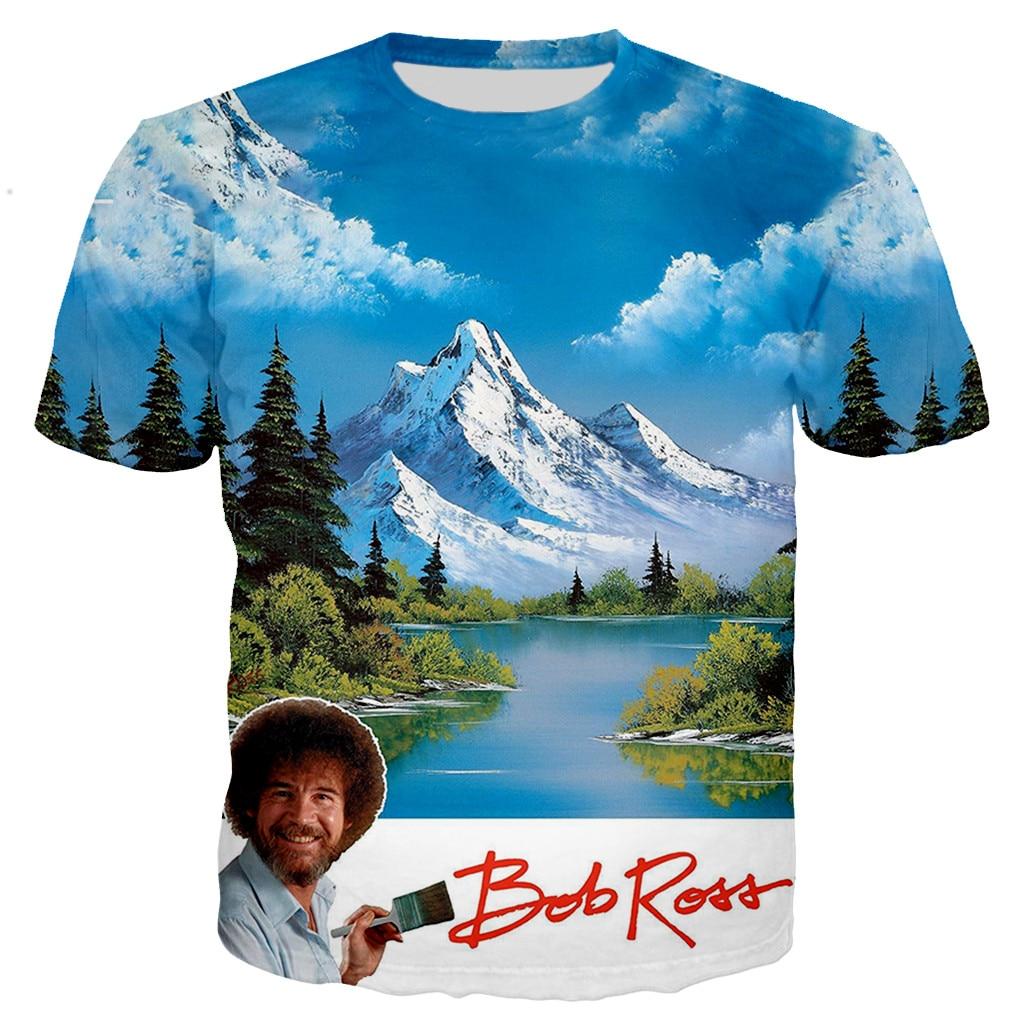 Nueva llegada clásica Bob Ross 3D imprimir hombres mujeres moda Cool camiseta/sudaderas/chaleco/Tops Dropshipping