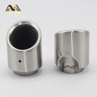76mm universal car rear round exhaust pipe tail muffler tip chrome stainless steel automobile muffler tip replacement for auto