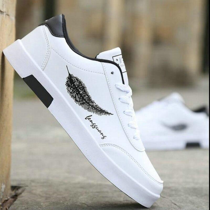 2019 nouveaux hommes chauds marque hommes respirant skateboard confortable chaussures de sport blanc chaussures baskets KA-03