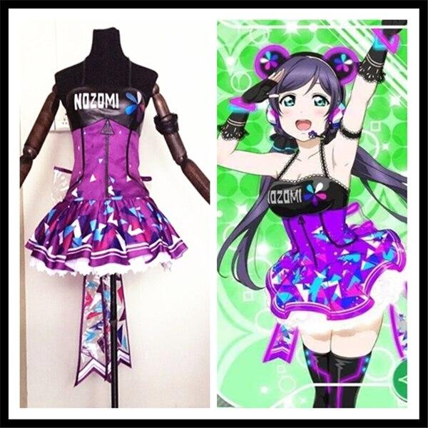 Anime cosplay Love live Tojo Nozomi jogo cibernético despertar vestido shinning LED traje cosplay UM