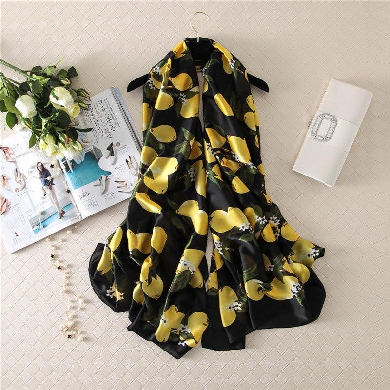 2019 nuevo estilo de playa para mujeres buena calidad hermosa flor chal seda señora Otoño e Invierno moda Popular imprimir bufandas hijab