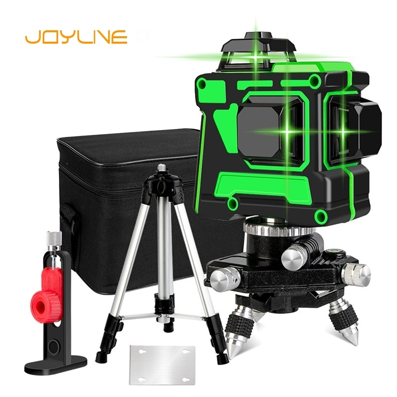 JOYLIVE Glistening Green 12-Line Laser Level Meter Automatic Leveling Remote Control 3D Wall Sticking Instrument High Precision electronic leveling level 5 line 8 line gll5 40e 8 40e laser level line throwing instrument high precision