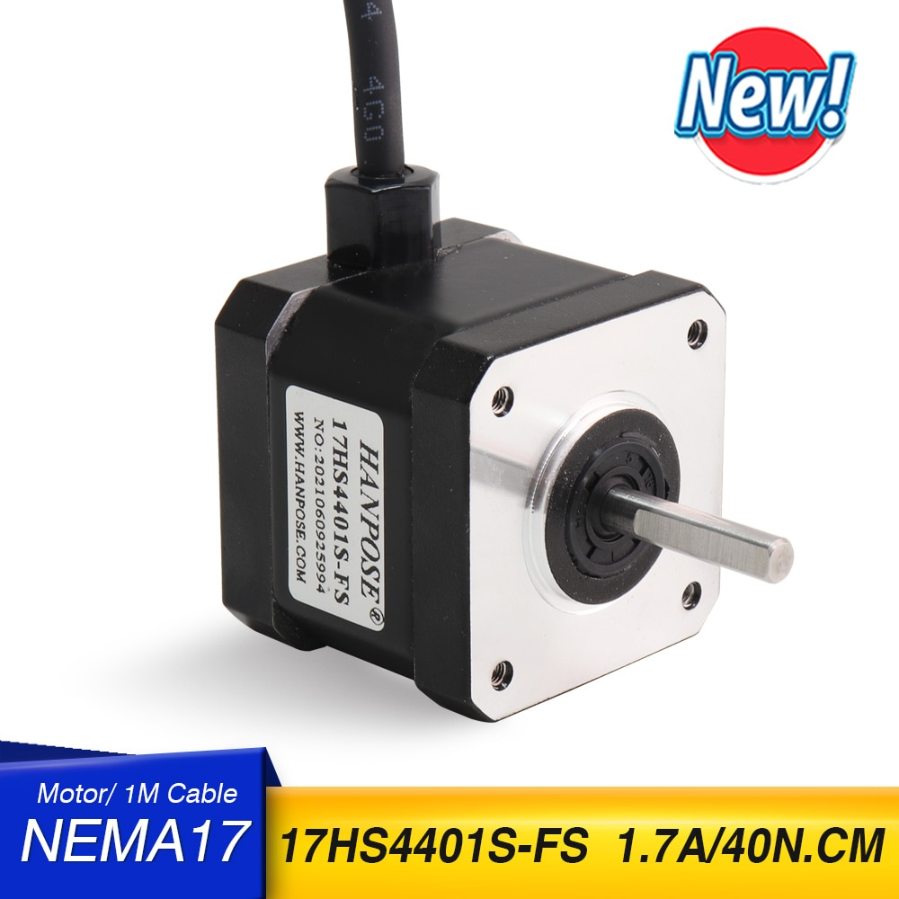 شحن مجاني 1 قطعة Nema17 محرك متدرج 42 موتور نيما 17 موتور 42BYGH 1.7A 17HS4401S-D المحرك 4-الرصاص ل 3D طابعة