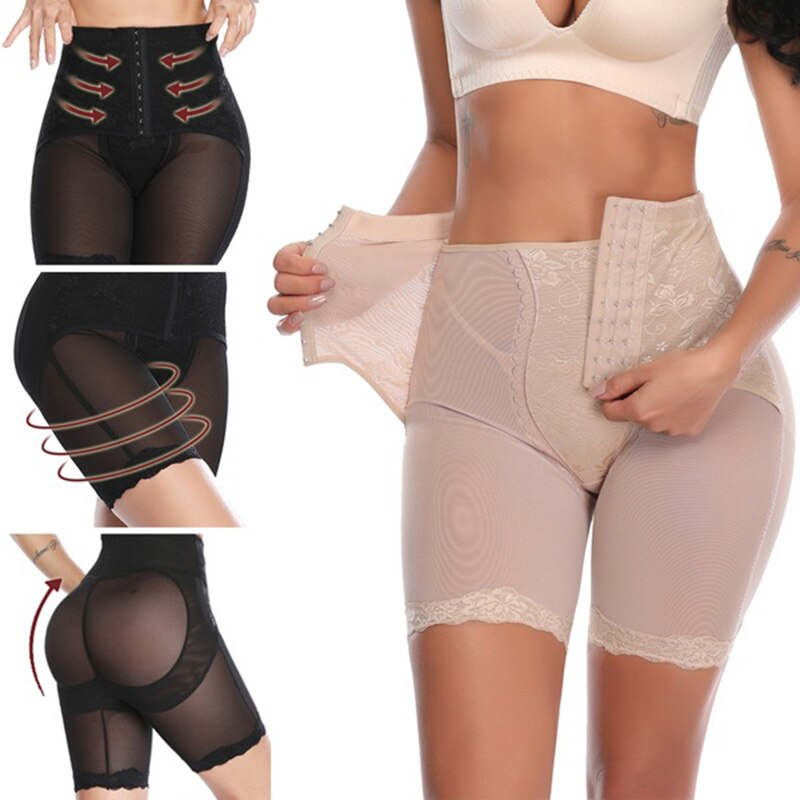 Bauch-steuer Höschen Body Shaper Frauen Shapewear Hohe Taille Kolben-heber Abnehmen Hosen Hüfte Pads Haken Magie Briefs Modellierung Ass
