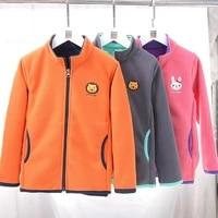girls embroidery jacket coats autumn winter for boys soft polar fleece outerwear boys coat warm children outwear teenagers
