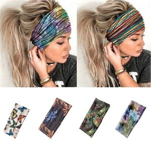 HeadBands Elastic Turban Sports  Hair Bands HeadWraps HeadBands Women