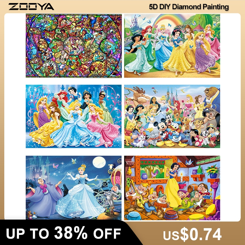 ZOOYA 5D Diamant Stickerei Fantasie Cartoon Maus Volle Platz Diamant Malerei Prinzessin CrossStitch Kit Diamant Mosaik Verkauf P49