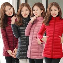 Winter Jacket Women Plus Size Jacket Female Slim Brand Cotton Parkas Autumn New Casual Long Zipper Padded Women Winter Coat