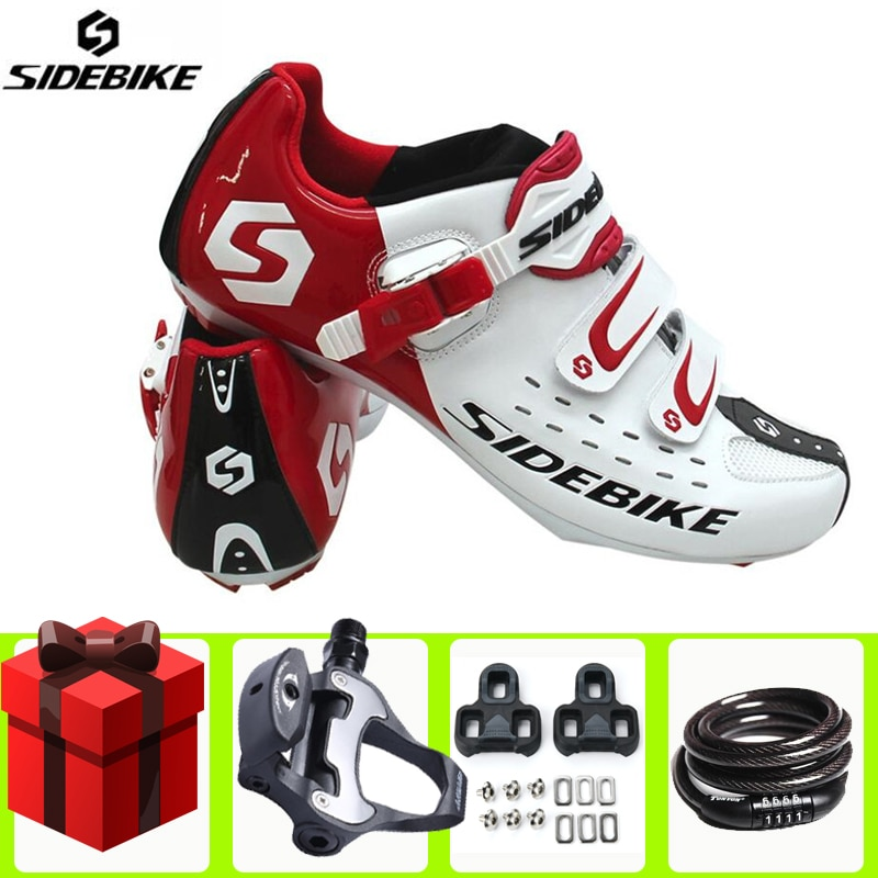 Sidebike Road Cycling Shoes add pedal set lock sapatilha ciclismo Self-Locking Bike Bicycle Ultralight Athletic Racing Sneakers