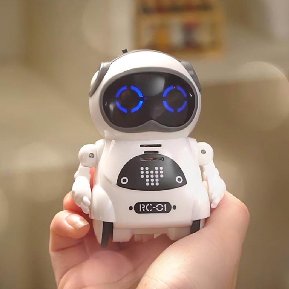 Карманный робот на радиоуправлении, говорящий интерактивный диалог, распознавание голоса, запись, пение, танцы, рассказ, история Радиоуправ...
