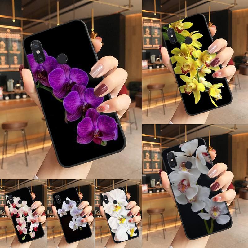Yinuoda orquídea flores pintadas caixa do telefone para redmi k20 nota 5 7 7a 6 8 pro nota 8t 9 xiaomi mi 8 9 se