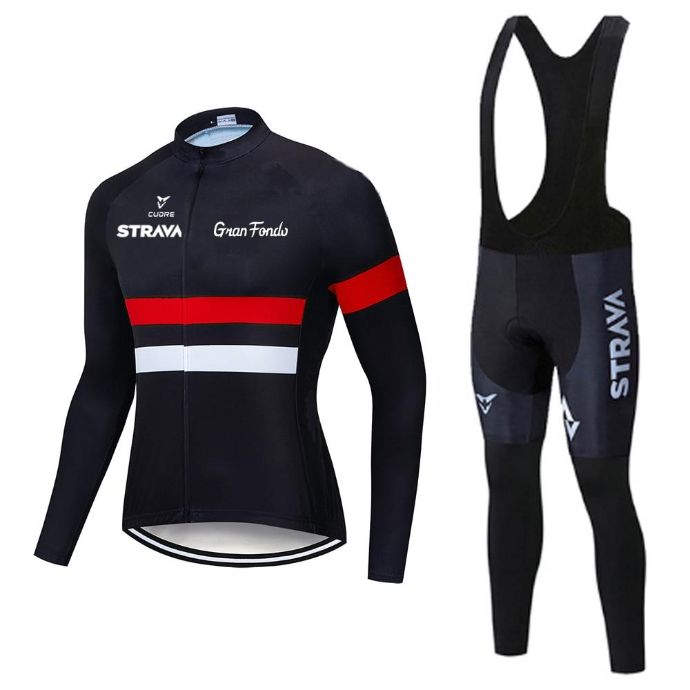 Jersey de ciclismo de STRAVA culotte de ciclismo conjunto pro equipo de...