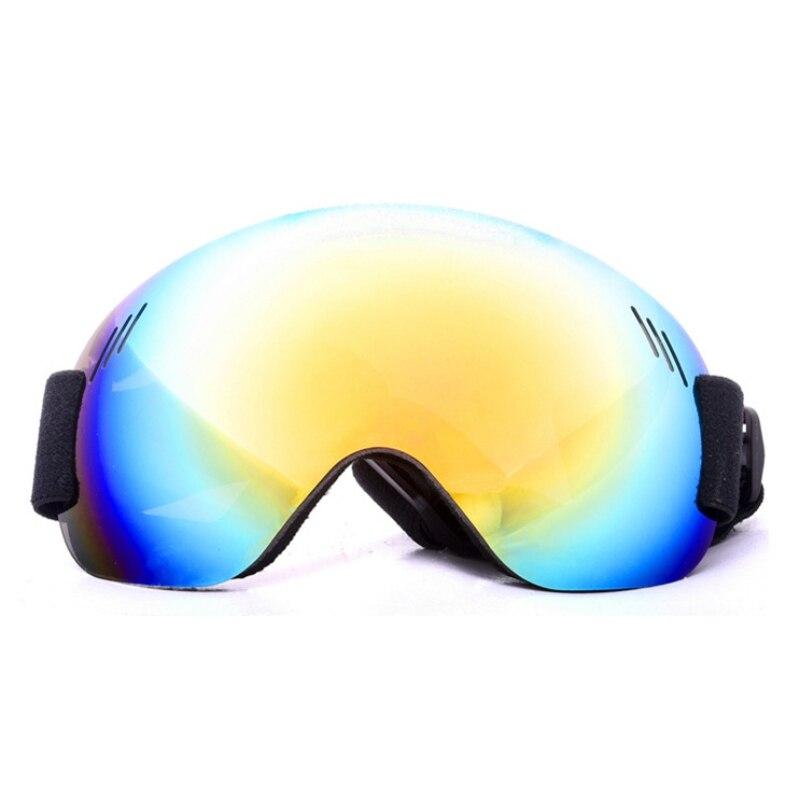Ударопрочные противотуманные УФ-Защитные Спортивные очки зимние уличные очки для лыж и сноуборда сферические линзы очки без оправы