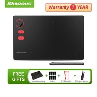 original 10moons g20 graphic tablet 8192 levels digital drawing tablet with roller key support android phone