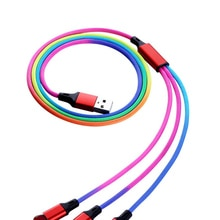1m Colorful 3 in 1 USB Charge Cable For iPhone 6 s 6S For iPhone12 X XR XS For Huawei Xiaomi Origin
