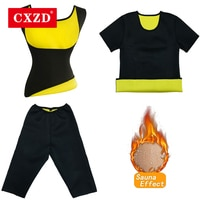 CXZD корректирующее белье женский жилет для тренировки талии утягивающее белье, утягивающие трусы, тонкий неопреновый корсет, майка для саун...