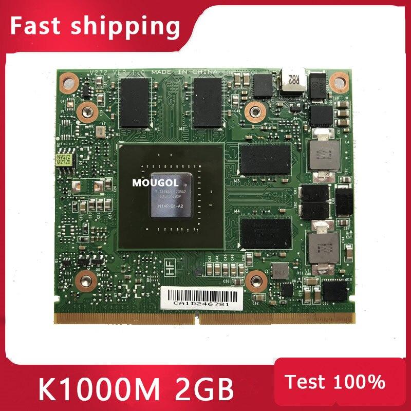 Quadro K1000M K1000 2GB بطاقة Vga الرسومات الفيديو لأجهزة الكمبيوتر المحمول HP 8570 واط 8770 واط Dell M4700 M4800 Test 100%