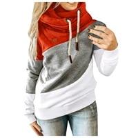 women casual splicing contrast hoodies long sleeve hoodie sweatshirt pullover tops 2021 new streetwear dropshipping %d0%be%d0%b2%d0%b5%d1%80%d1%81%d0%b0%d0%b9%d0%b7 r5
