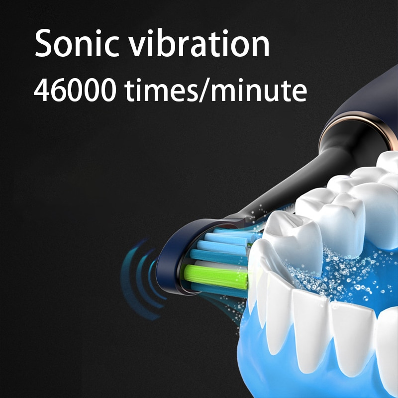 Electric Toothbrush USB Induction Charging Sonic Toothbrush Adult Electric Sonic Toothbrush IPX7 Waterproof Electric Toothbrush enlarge
