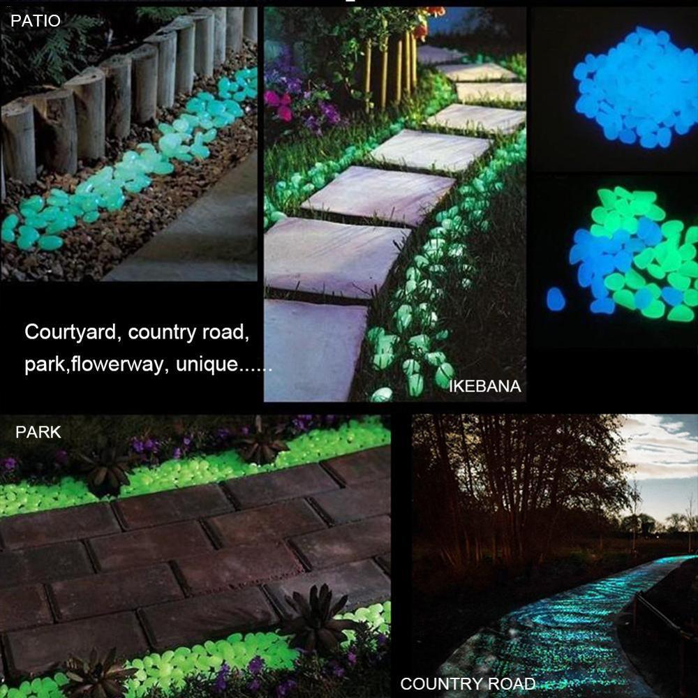 100/300/500 copë shkëlqejnë në guralecat e errëta të ndritshme - Produkte kopshti - Foto 4