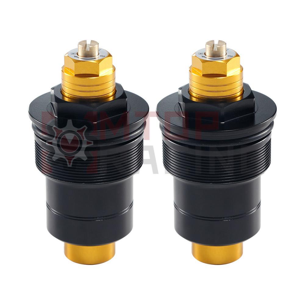 Preload forquilha tampões para honda nsr250 mc18 sp mc21 se sp msr250 mc28 se ajustável forquilha parafusos 41mm prata preto