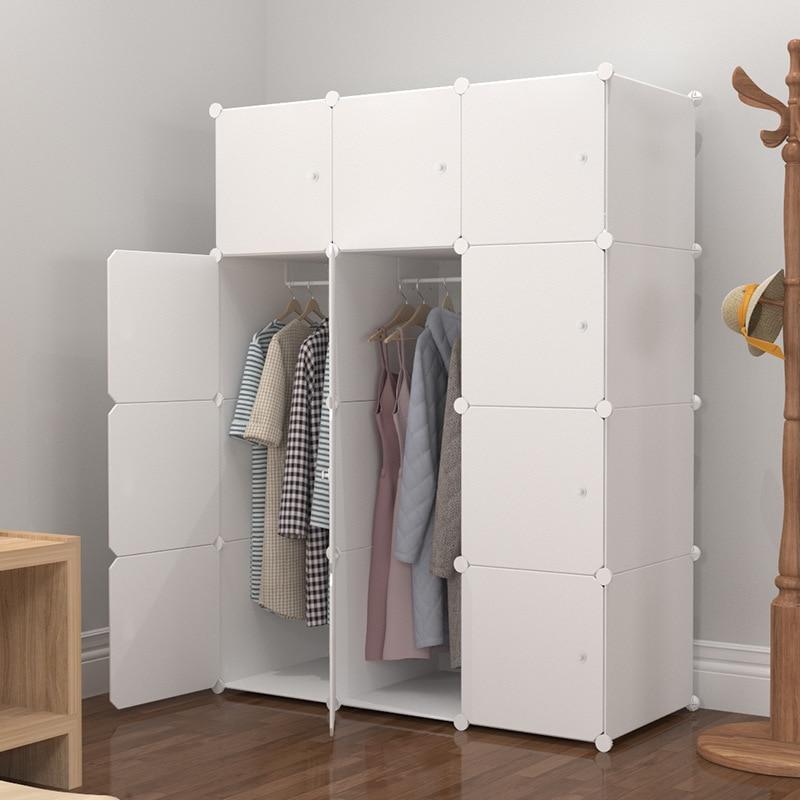 خزانة بسيطة البلاستيك مزيج صغير خزانة خزانة تخزين النسيج بسيطة الحديثة خزانة الملابس الاقتصادية