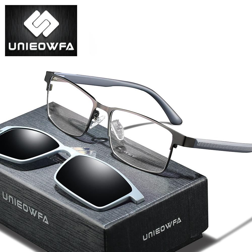 Optical Prescription Glasses Men Multifocal Progressive Eyeglasses Men Bifocal Myopia Polarized Magn