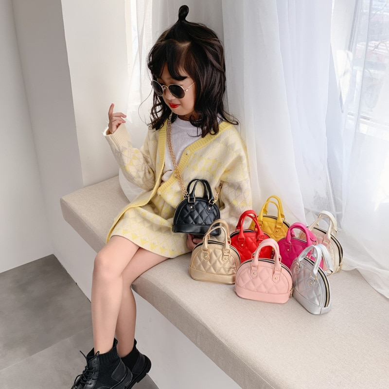 Kids PU Leather Purses and Handbags Cute Girls Mini Crossbody Bag Kawaii Little Girl Small Party Hand Bags Baby Coin Pouch Purse