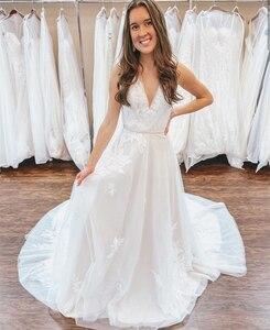 Wedding Dress 2021 A-line Lace Appliques Bridal Gown Pricess Court Train Robe De Mariee Petite Women vestidos de novia Elegant