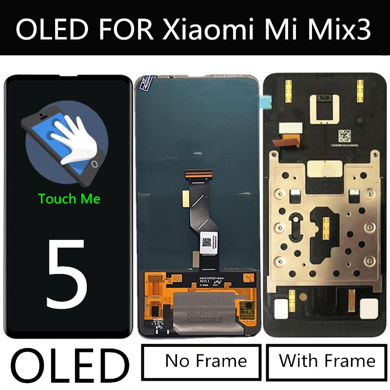 "Pantalla LCD OLED para Xiaomi Mi MIX 3 MiMix 3 MI MIX3, pantalla LCD + Digitalizador de pantalla táctil, accesorios de repuesto para teléfono, pantalla LCD de 6,39"""