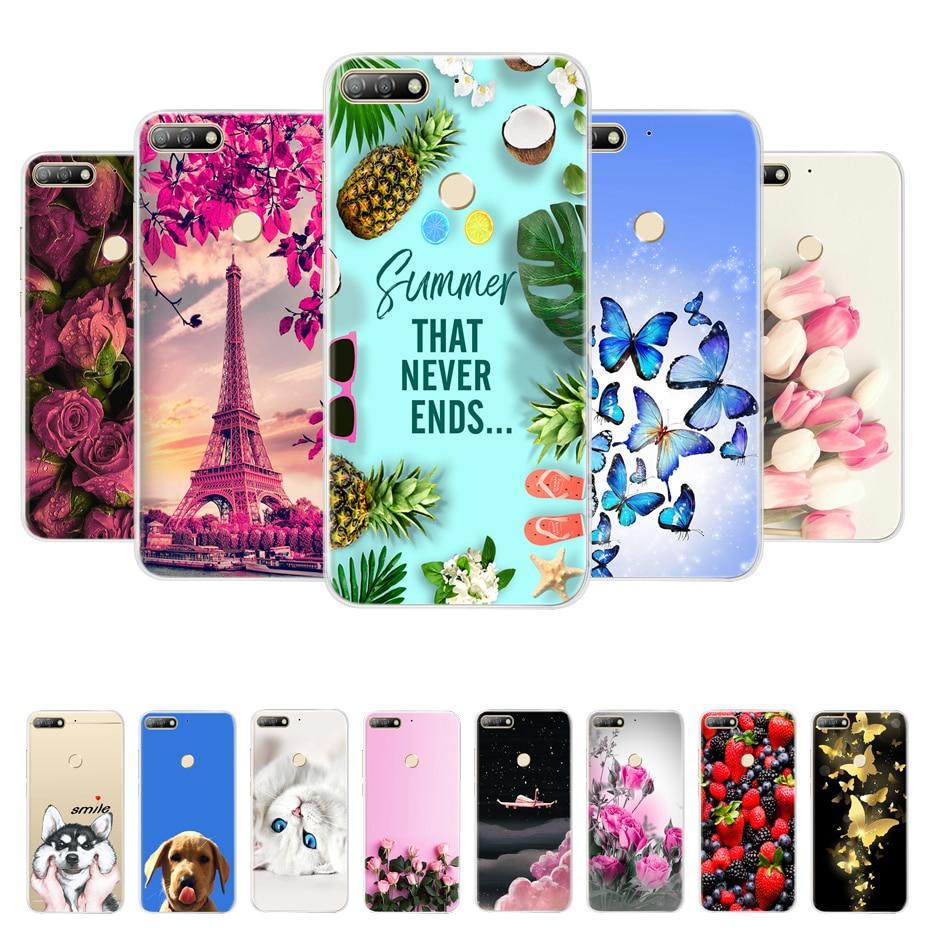 "Para Huawei Y7 Prime 2018 funda de silicona parachoques para Huawei Nova 2 Lite funda de teléfono para Huawei Honor 7C pro LND-L29 funda 5,99"""