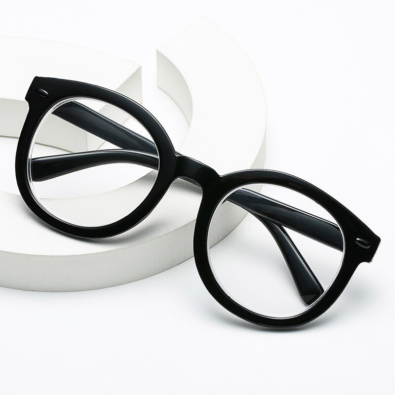 Anti Blue Light Glasses Women Vintage Trending Office Big Size Men Eyeglasses Frame Round Computer G
