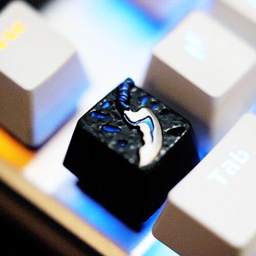1 шт. металлический колпачок для dota2 Keycap для DOTA механическая клавиатура ESC Keycap оцинкованный алюминиевый сплав R4 Keypress