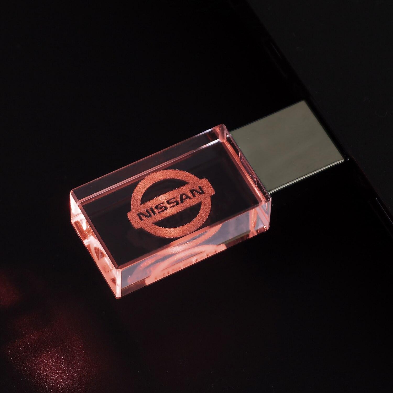 Nissan со стразами и металлическими USB флэш-накопитель, флэш-накопитель 8 ГБ внешнее запоминающее устройство, 16 Гб флэш-накопитель 32 Гб карта памяти 64GB автомобиля изготовленный на заказ logo128GB
