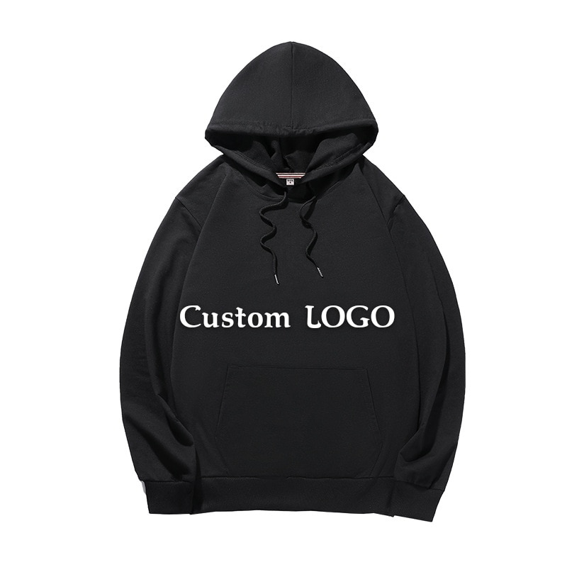 DIY Personalized Print Embroidery  LOGO Hoodies Custom Unisex Sweatshirts Solid Color Casual Class Uniform  Work Clothes custom embroidery personalised polo shirt full color text logo print work uniform workwear company design your own polo
