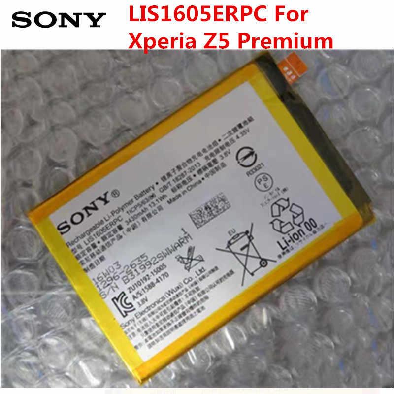Sony Batería De Repuesto Original Para Teléfono Móvil Original 3430mah Lis1605erpc Para Sony Xperia Z5 Premium Z5p Dual E6853 E6883 Baterías Para Teléfonos Móviles Aliexpress