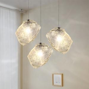 Modern LED Chandeliers Ice Glass Home Docer Lamp Living Room Bedroom Kitchen G4 Bulb Indoor Lighting Fixture Luminaire