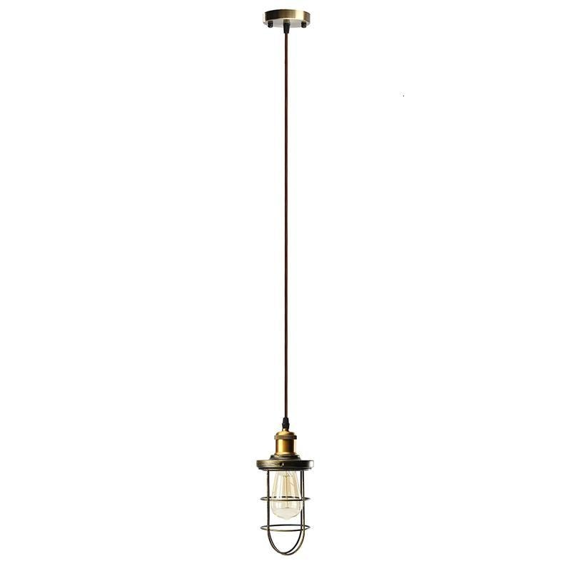 Vintage Hallway Chandelier Iron Pendant Light Led Residential Lighting hanging lamp