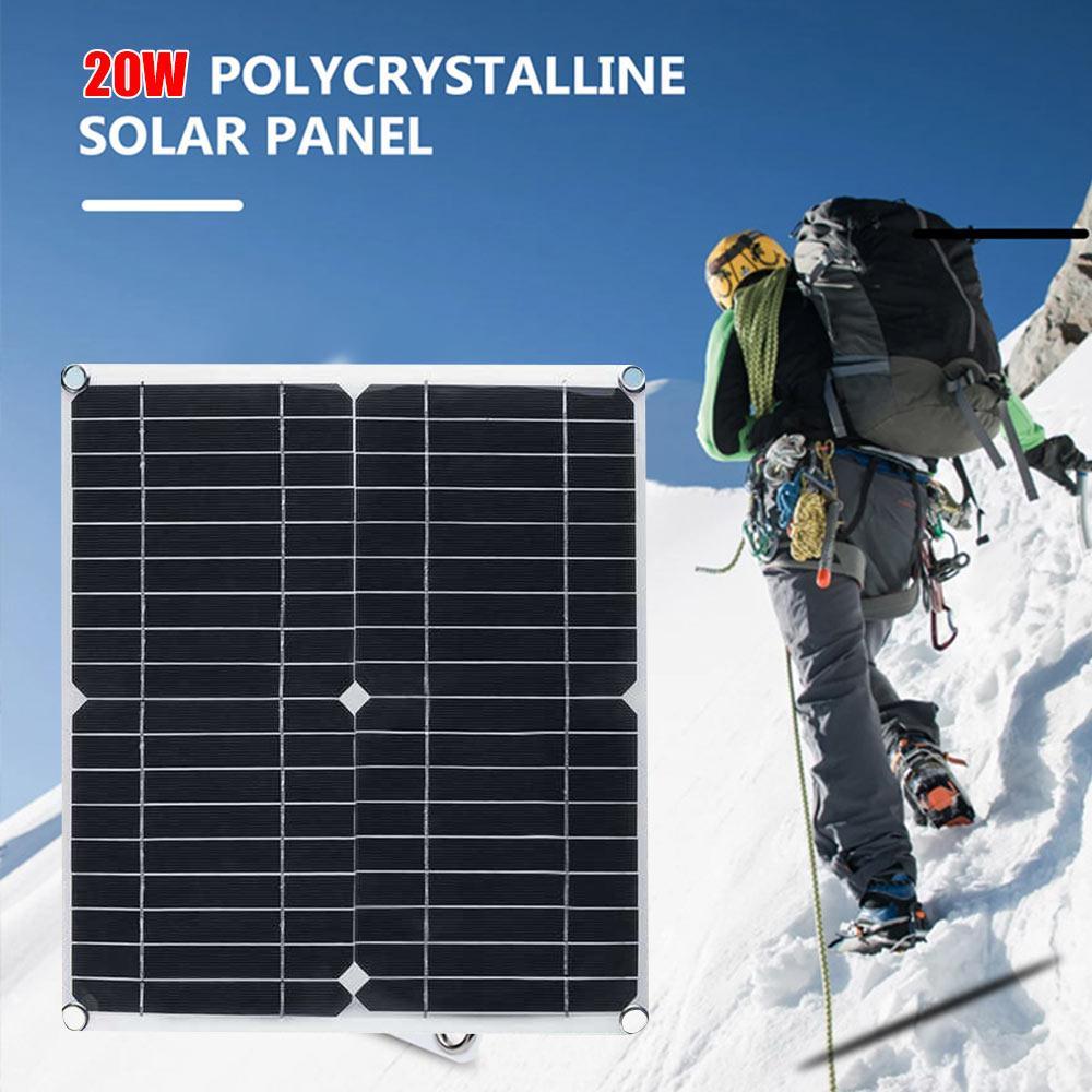 لوحة طاقة شمسية شاحن سيارة PET مونوكريستال سيليكون معدات شحن الطاقة الشمسية البيئية لوحة طاقة شمسية USB 280*280 مللي متر 20 واط